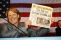 Democratic contender in the Senate race in North Dakota, Heidi Heitkamp, narrowly defeated her Republican rival Rick Berg. Photo: AP