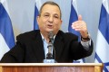 Israeli Defence Minister Ehud Barak announces his resignation at his offices in Tel Aviv on Monday. Photo: EPA