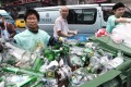 Campaigners collect glass in Wan Chai. Photo: SMP