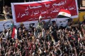 Opposition supporters rally to hear former presidential candidate Hamdeen Sabahi speak. Photo: EPA