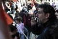 Greeks protest against cuts and expected lay-offs. Photo: AFP