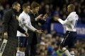 Tottenham's manager Andre Villas-Boas (third from left) says Spurs have to improve their late-game defence. Photo: AFP