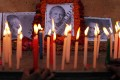 Candles are lit in tribute to Indian sitar player Ravi Shankar in Varanasi, India. Photo: AP