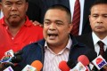 """""""Red shirt"""" leader Jatuporn Prompan in court. Photo: AFP"""