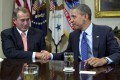 Game on for John Boehner and Barack Obama.Photo: AP