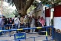 Cairo residents queue outside a polling station. Photo: Xinhua
