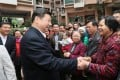 Xi Jinping greets residents in Shenzhen during his recent inspection tour, which was notable for his openness. Photo: Xinhua
