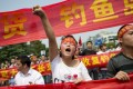 """A Chinese demonstrator shouts slogans during a protest against Japan's """"nationalising"""" of Diaoyu Islands, also known as Senkaku in Japan. Photo: AFP"""