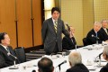 Japan's next prime minister Shinzo Abe meets with business leaders last week. Photo: AFP