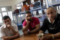Sam, Raymond and Yuref -- expose frustration refugees have with the UNHCR's work in Hong Kong. Photo: David Wong