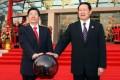 Guo Shengkun (left) and former security tsar Zhou Yongkang.