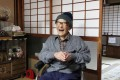 Jiroemon Kimura, the world's oldest man yet, laughs as he looks back on his long life in his home city of Kyotango. Photo: Bloomberg