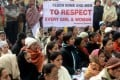 Indian residents gather to pray for gang-rape student victim during a silent protest in New Delhi on Tuesday. Photo: AFP