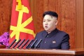 North Korean leader Kim Jong-un delivers his New Year's Day address in Pyongyang. Photo: AFP