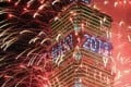 Fireworks are launched from the Taipei 101 building to mark the new year. Photo: AFP