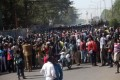 People gather as they take part in a sit-in on January 9, 2013 in Bamako to ask for ''immediate days of sovereign consultation'' on the transition in Mali. Photo: AFP