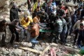 Rescuers search for survivors in Alexandria, Egypt. Photo: EPA