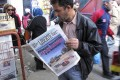 Newspaper headlining 'Terrorist attack and kidnapping in In Amenas' in Algiers. Photo: AP
