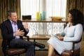Cyclist Lance Armstrong is interviewed by Oprah Winfrey in Austin, Texas. Photo: Reuters