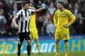 Newcastle United's French midfielder Yohan Cabaye (left). Photo: AFP