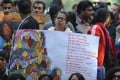 Protesters demand better protection for women in India, a country where a rape is said to occur every 30 minutes. Photo: AFP