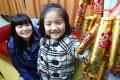Chau Pik-hung and her daughter. Photo: May Tse