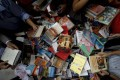 Books at the Irrawaddy Literary Festival. Photo: AP