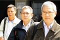 (Left to right) Lamma IV engineer Leung Pui-sang, sailor Leung Tai-yau and coxswain Chow Chi-wai at the inquiry on Tuesday. Photo: May Tse