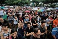 A protest against an immigration plan that could see Singapore population increase 30 per cent by 2030. Photo: EPA