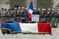 French Defence minister Jean-Yves Le Drian speaks during a ceremony in Paris for a French soldier recently killed in Mali. Photo: AFP