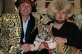 Chechnya's leader, Ramzan Kadyrov (right) with tiger. Photo: SCMP Pictures