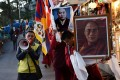 Tibetans-in-exile mourn the death of Lobsang Thokmay, a monk from the Kirti monastery in Tibet's Amdo region, who set himself ablaze on Saturday. Photo: AFP