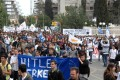 Cypriots take to the streets to protest the terms of the rescue package imposed by the European Union, the European Central Bank and the International Monetary Fund. The Cyprus bailout has sent shockwaves through global markets and fund managers are taking a more cautious stance. Photo: Xinhua