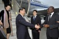 President Xi Jinping arrives in Durban, South Africa, on a trip that also took him to Tanzania and the Republic of Congo. Photo: EPA
