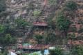 Hill slide: Loose soil is secured
