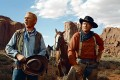 Harry Carey Jnr and John Wayne in the classic western The Searchers.