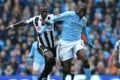 Manchester City's Ivorian midfielder Yaya Toure (right) during a recent English Premier League football match. Photo: AFP