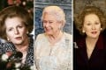 Margaret Thatcher in 1986 (left), Queen Elizabeth II (centre) and Meryl Streep in the film 'The Iron Lady'. Photos: AFP and Reuters