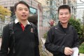 Cheng Shing-wing (left) and Li Hak leaving Fanling Court yesterday. They have been told to hire a lawyer. Photo: K.Y. Cheng