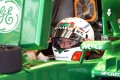 Caterham reserve driver Ma Qinghua drives during the first practice session of the Chinese F1 Grand Prix at the Shanghai International circuit. Photo: Xinhua