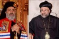 Bishop Boulos Yazigi of the Greek Orthodox Church, left, and John Ibrahim of the Assyrian Orthodox Church, right, who were kidnapped Monday, in the northern province of Aleppo, Syria. Photo: AP