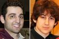 Tamerlan Tsarnaev (left) and brother Dzhokhar. Photo: AP