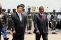 President Xi Jinping and Congolese President Denis Sassou Nguesso (right) during his three-nation Africa tour. Photo: AFP