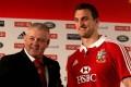 British & Irish Lions rugby head coach Warren Gatland with his captain Sam Warburton. Photo: AP