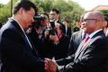 Xi Jinping with South African leader Jacob Zuma. Photo: EPA