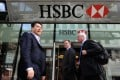 Although strong earnings are expected for the quarter, HSBC is seen as too large and may announce measures to lower costs. Photo: EPA