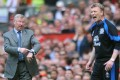 Alex Ferguson (left) and David Moyes. Photo: AP