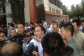 Mayor Li Wenrong confronts protesters in Kunming, Yunnan, May 16, 2013. Photo: SCMP Pictures