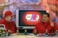 Venezuela's then President Hugo Chavez (right) appears on the television show with anchor Mario Silva in 2007.