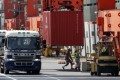 Japan's exports rose less than expected in April from a year earlier.